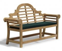 Teak lutyens bench - 1.65m