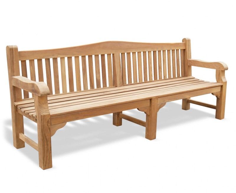 Buckingham Large Teak Garden Bench – 2.4m