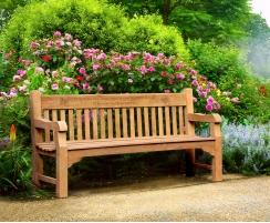 Banchory Solid Wood Teak Park Bench – 1.8m