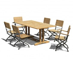 Belgrave 6 Seat Pedestal Table 1.8m & Bistro Chairs