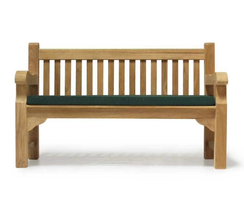Balmoral Teak Park Bench Chunky Wooden Outdoor Garden Bench