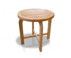 Capri Solid Wood Side Table, Teak