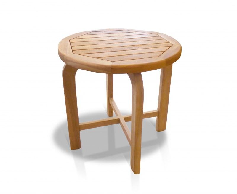 Capri Solid Wood Side Table, Teak