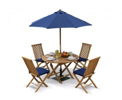 Suffolk 4 Seater Folding Dining Set with Ashdown Chairs
