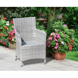 Riviera Rattan Garden Chair, Wicker Armchair, Flat weave
