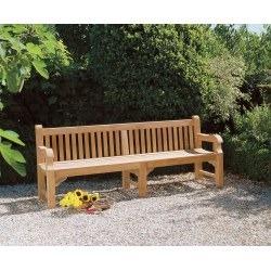 Balmoral Heavy Duty Teak Park Bench – 2.4m/8ft