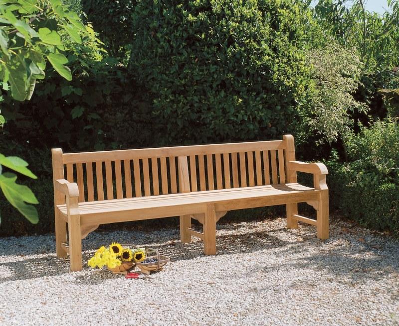 Balmoral Heavy Duty Teak Park Bench – 2.4m/8ft