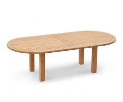 Titan Large Sturdy Oval Garden Table, square leg – 2.6m