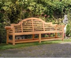 Extra-Large Teak Lutyens-Style Bench – 2.7m