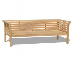 Large Teak Outdoor Daybed - 2.1m / 7ft