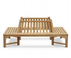 Teak Tree Seat, Square Bench Seat – 2.2m