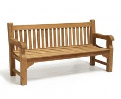 Balmoral Traditional Teak Park Bench, Chunky Garden Bench – 1.8m