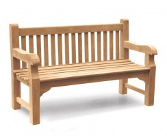 Balmoral 5ft Sturdy Teak Park Bench – 1.5m