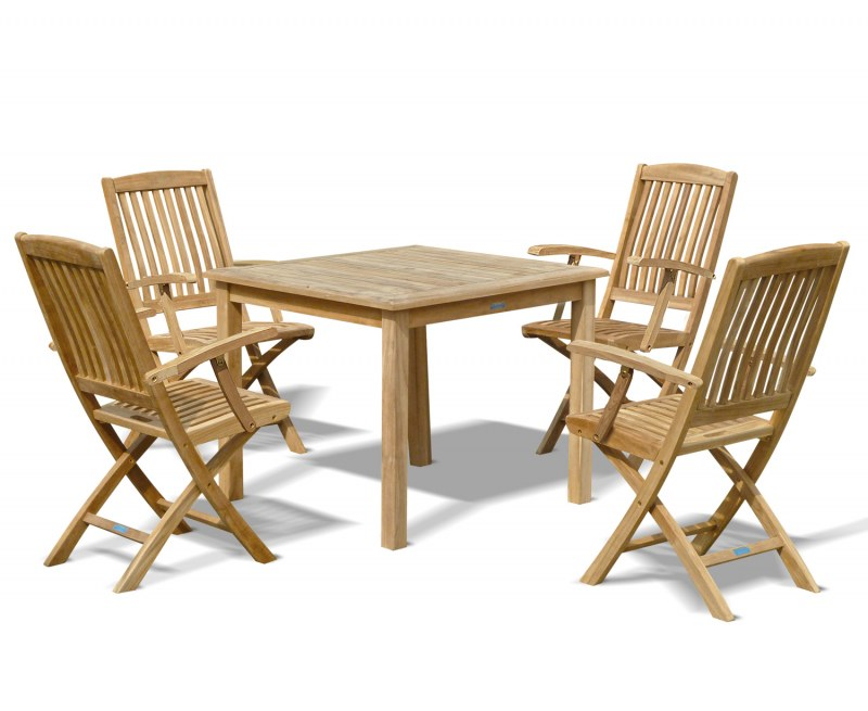 Sandringham Table with 4 Bali Armchairs