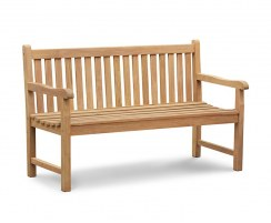 York Teak Garden Bench, Flat Pack - 1.5m