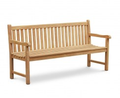 York Teak Garden Bench, Flat Pack - 1.8m
