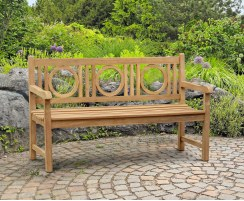 Albemarle Decorative Garden Bench, Flat Pack - 1.5m