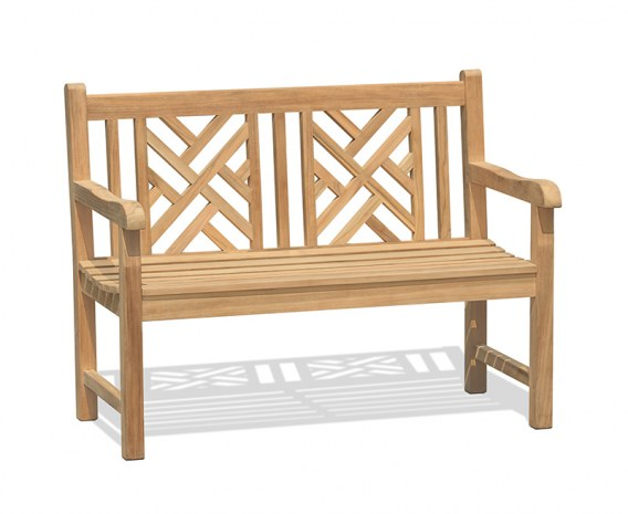Princeton Chippendale Decorative Garden Bench – 1.2m