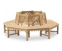 Princeton Crenelated Teak Tree Seat, Octagonal – 2.2m