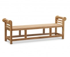 Lutyens Teak Backless Bench - 1.95m