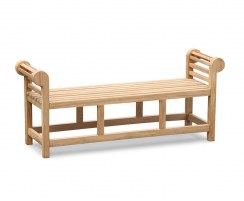 Lutyens Teak Backless Garden Bench - 1.65m