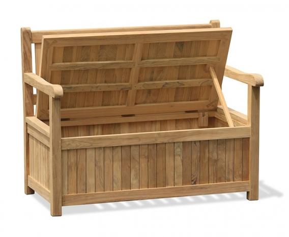 2m plastic garden storage bench
