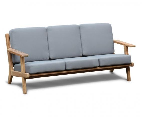 Eero Mid-Century Deep Seated Teak Garden Sofa, 3 Seater