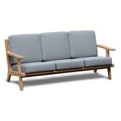Eero Mid Century Deep Seated Teak Garden Sofa 3 Seater