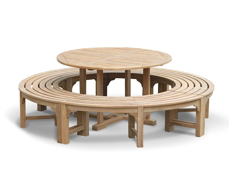 Canfield Teak Garden Table 1.3m and Backless Dining Benches Set