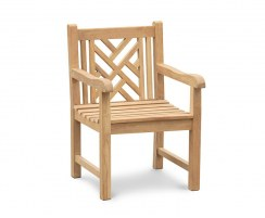 Princeton Teak Chippendale Garden Chair with arms