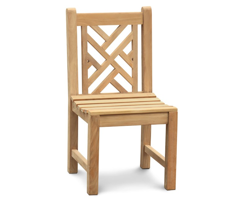 Princeton Teak Lattice Chippendale Garden Dining Chair