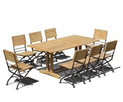 Belgrave 8 Seater Pedestal Table 1.8m & Bistro Folding Chairs