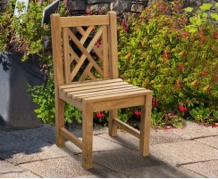 chinoiserie chippendale garden dining chair