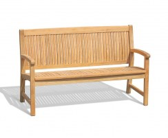 Stanford 3 Seater Teak Outdoor Bench – 1.5m