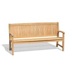 Stanford 4 Seater Teak Outdoor Bench – 1.8m