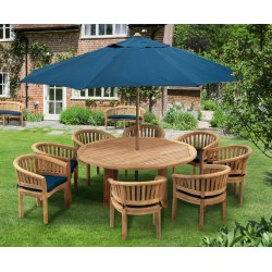 Titan 8 Seater Round Table 1.8m & Contemporary Chairs