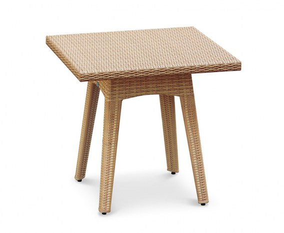 Riviera Square Rattan Dining Table – 0.8m
