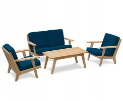 Eero Mid-Century Deep Seated Teak Garden Furniture Set