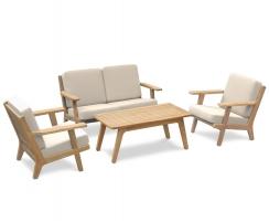 Eero Mid-Century Deep Seated Teak Garden Furniture Set
