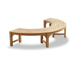 Saturn Half Round Backless Tree Seat – 2.2m
