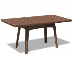 Riviera Synthetic Rattan Table - Java Brown