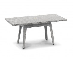 Riviera Synthetic Rattan Table - Grey Marble