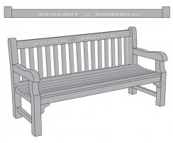 queens teak bench