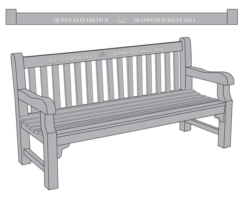 balmoral teak queen s diamond jubilee commemorative bench