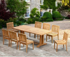 Large Garden Table And Chairs Large Dining Sets