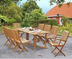 Shelley Outdoor Drop Leaf Gateleg Folding Table and Chairs