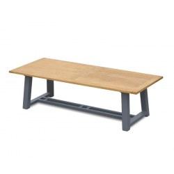 Bridgewater Rectangular Teak and Aluminium Outdoor Table – 2.6m