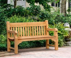 Banchory Solid Wood Teak Park Bench – 1.5m