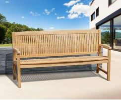 Stanford 4 Seater Teak Outdoor Bench – 1.8m