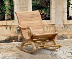Capri Reclaimed Teak Plantation Rocking Chair